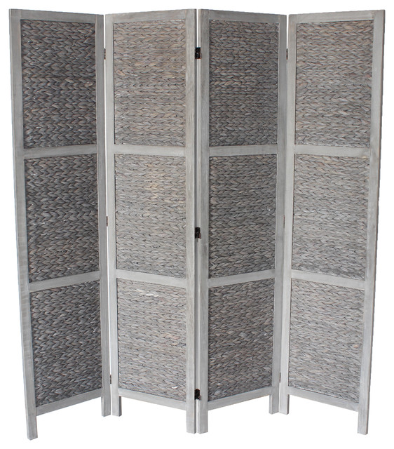 Beck Panel Room Divider Gray Tropical Screens And Room - 4 panel room divider