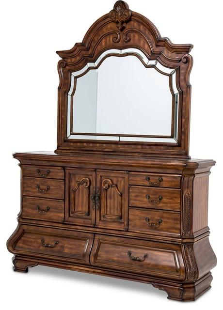Aico Michael Amini Tuscano Melange Dresser And Mirror.