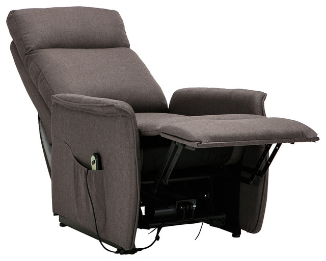 Classic Power Lift Recliner Living Room Chair, Gray Contemporary Recliner  Chairs