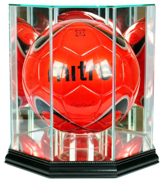 Octagon Soccer Ball Display Case - Traditional - Storage And Organization - by Perfect Cases, Inc.