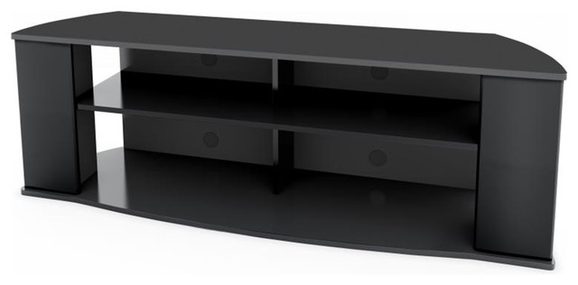 essentials inch stand black transitional entertainment centers 60 corner tv with mount stands under 200