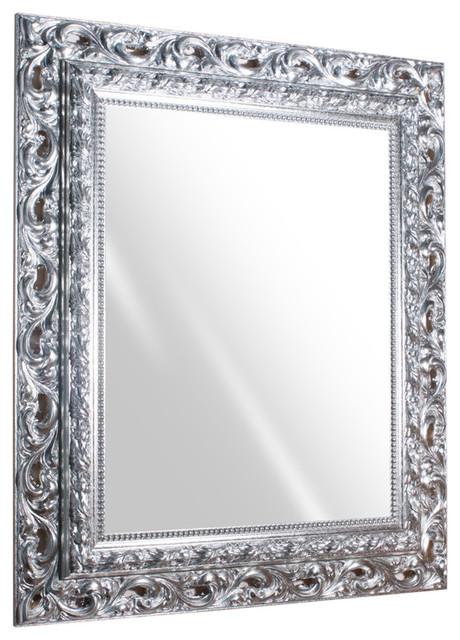 Vento Wall Mirror, Silver, 39x31.