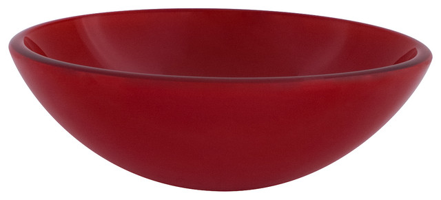 Novatto Rosso Double Layer Glass Vessel Sink.