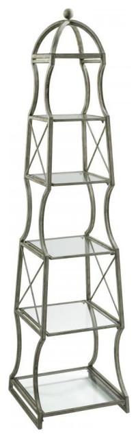 Rustic Gray 6 Shelf Chester Etagere