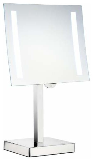 Free Standing Bathroom Mirror Houzz Smedbo Inc Freestanding Led Light Shaving