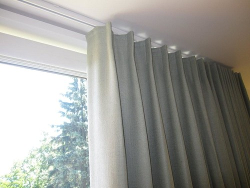 Curtains Ideas ceiling track shower curtain : Recessed curtain track installation