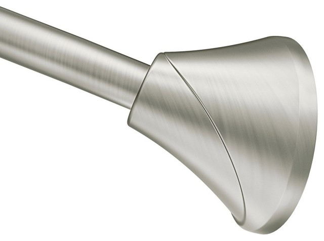 Moen Tension Curved Shower Rods Transitional Shower Curtain Rods