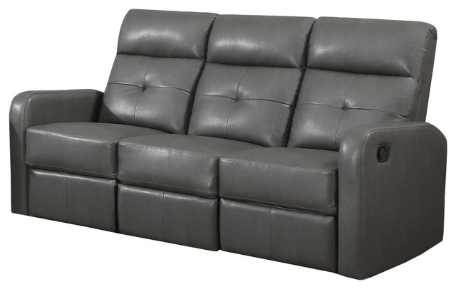 reclining sofa charcoal gray bonded leather contemporary sofas by ergode. Black Bedroom Furniture Sets. Home Design Ideas