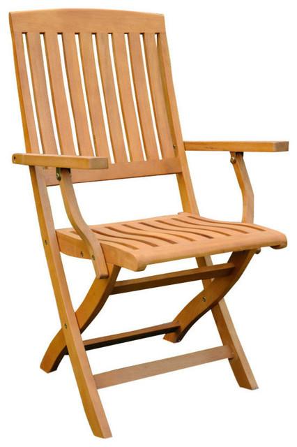 Surprising International Caravan Set Of 2 Royal Tahiti Folding Wood Patio Chairs Evergreenethics Interior Chair Design Evergreenethicsorg