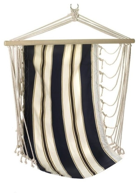 Navy Striped Hanging Chair by Summerfield Terrace