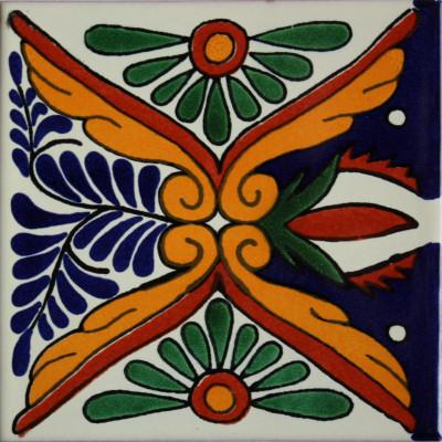 "36-Piece Tonichi Talavera Mexican Tile, 2x2""."