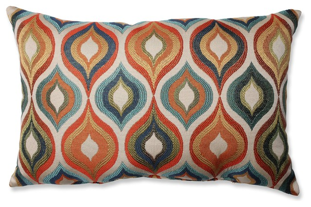 Flicker Jewel Rectangular Throw Pillow. -1