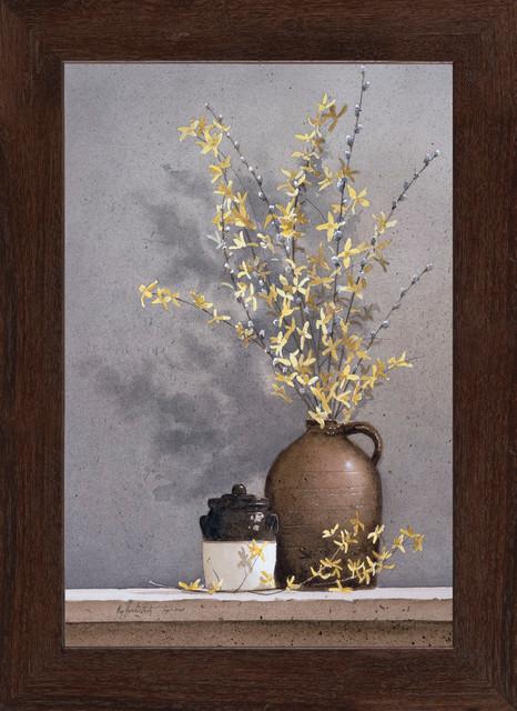 """Forsythia"" Framed Art Print by Ray Hendershot, 15.25""x21.25"""