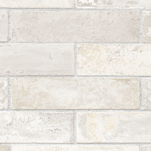 Brick Style Wallpaper Part - 36: Brick Pattern Wallpaper, Light Gray, Sample Wallpaper