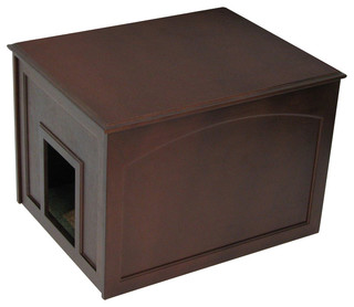 Crown Pet Cat Litter Cabinet, Espresso Finish - Transitional - Molding And Trim - by Crown Pet ...