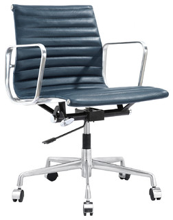 Ribbed Back Office Chair Leather Contemporary Office Chairs By Meelano