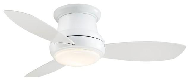 Minka Aire Concept Ii White 44 Flush Mount Ceiling Fan.