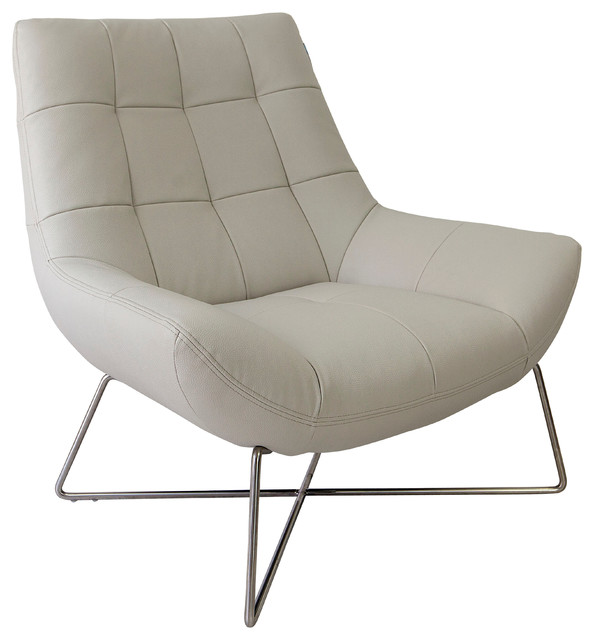White Canio Leather Occasional Armchair