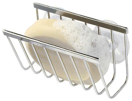 Kitchen Sink Accessories interdesign gia suction soap/sponge holder - traditional - kitchen