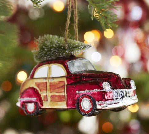 Woody Car Glass Ornament