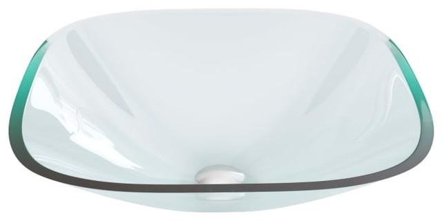 Vigo Vg07103 16-1/2 Glass Vessel Bathroom Sink, Crystalline.