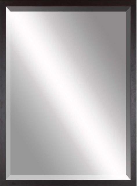 Paragon decor beveled mirror simple thin brown for Thin wall mirror