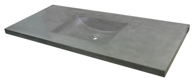 """48"""" Palomar Vanity Top With Integral Sink, Ash."""