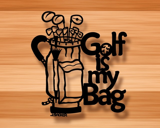 Golf Is My Bag Wall Decor 3d Metal Wall Art