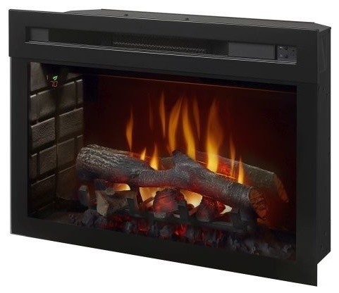 "Multi-Fire Xd Realogs Electric Fireplace, 25""."