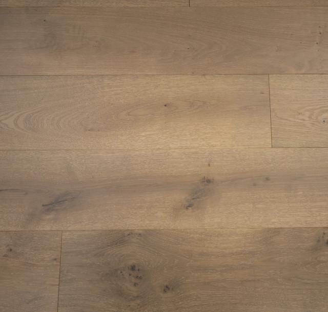 Prefinished Hardwood Flooring Gaps: French Oak Prefinished Engineered Wood Floor, Riverstone
