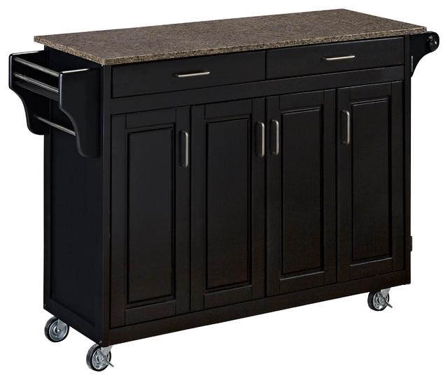 Home Styles Tiberius Cuisine Cart Black Reviews Houzz