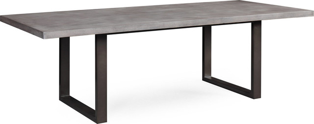 Edna Concrete Veneer Table - Washed Gray