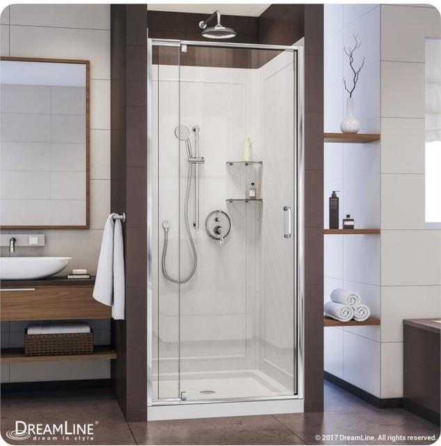 Dreamline Frameless Sliding Shower Door Backwall And Base Kit Dl 6217c 01cl
