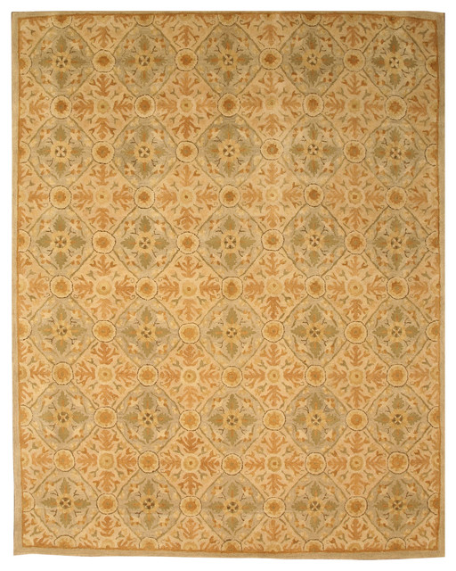 Hand-Tufted Wool Ivory Twisted Royal Kabul Rug, 6&x27;x9&x27;.