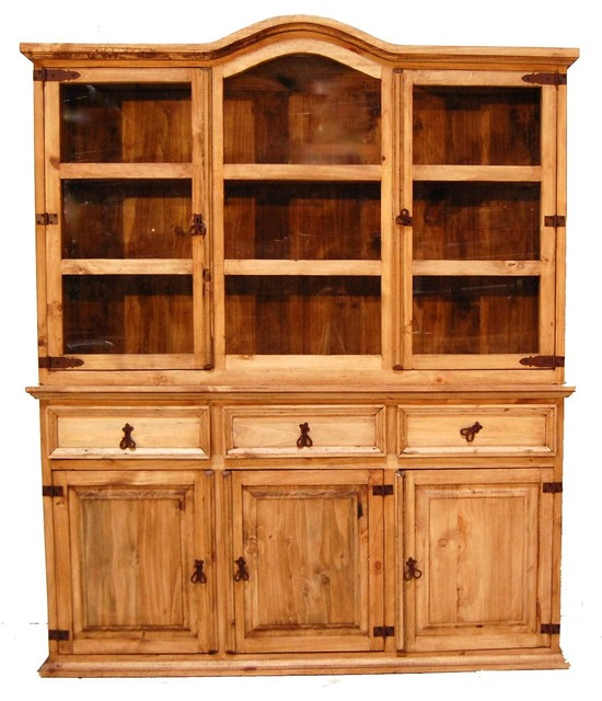 Medium 2-Piece China Cabinet - Southwestern - China Cabinets And Hutches - by Million Dollar Rustic