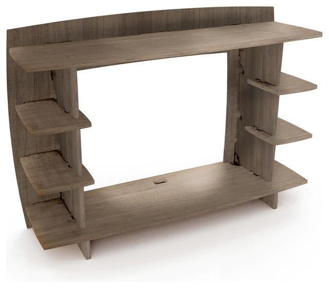 """Desk Hutch Attachment, 36"""", Gray Driftwood."""