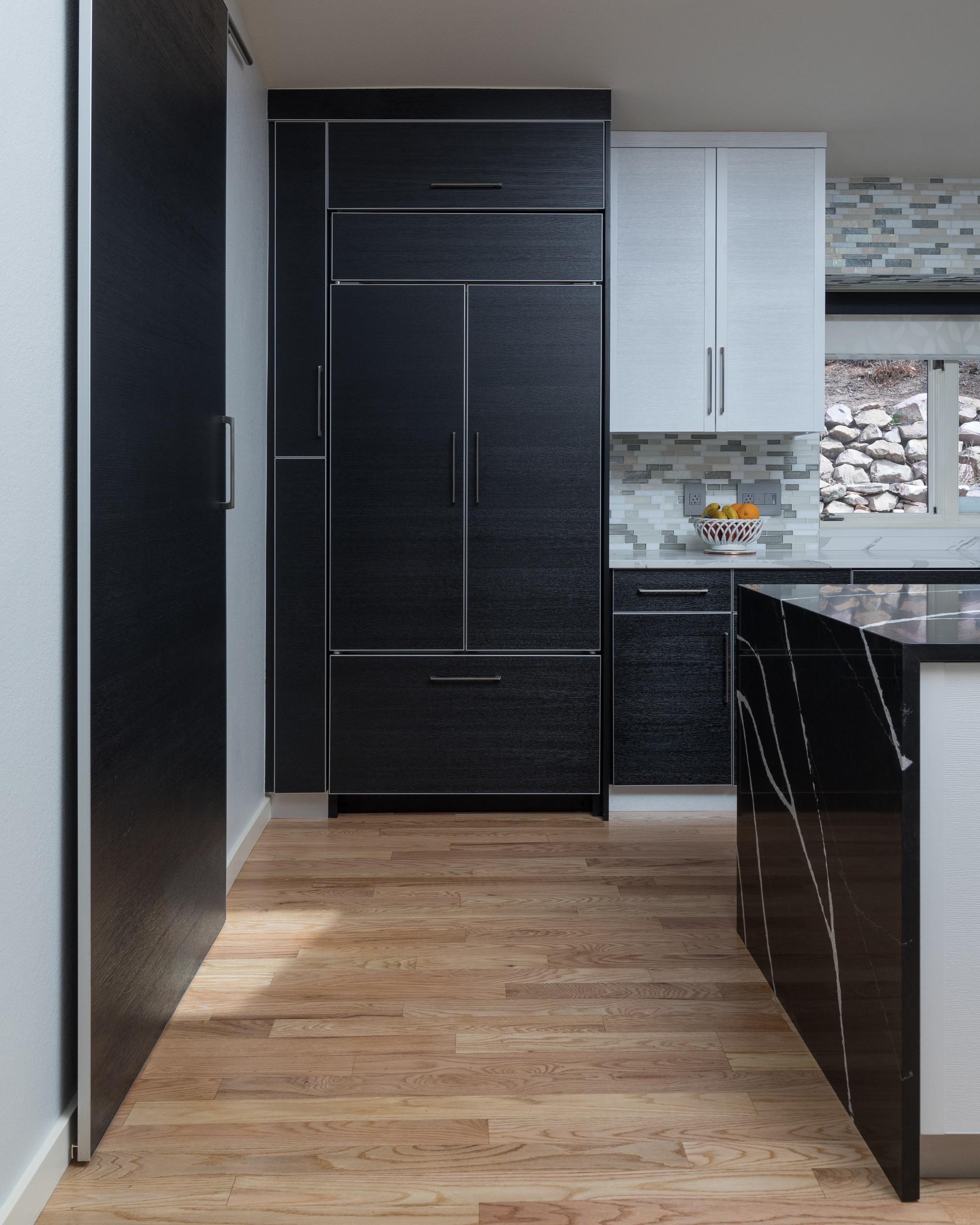 Bold Black and White Modern Kitchen