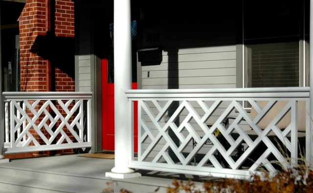 Chinese Chippendale Railing Diamond Traditional