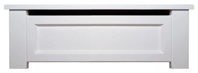 Wood Baseboard Heater Cover, 2&x27; Length, Shaker, Closed Endcaps.