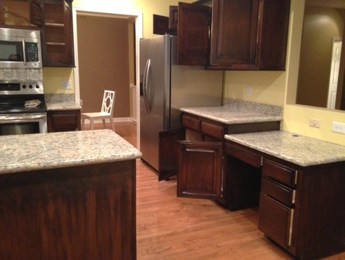 before & after painted kitchen cabinets
