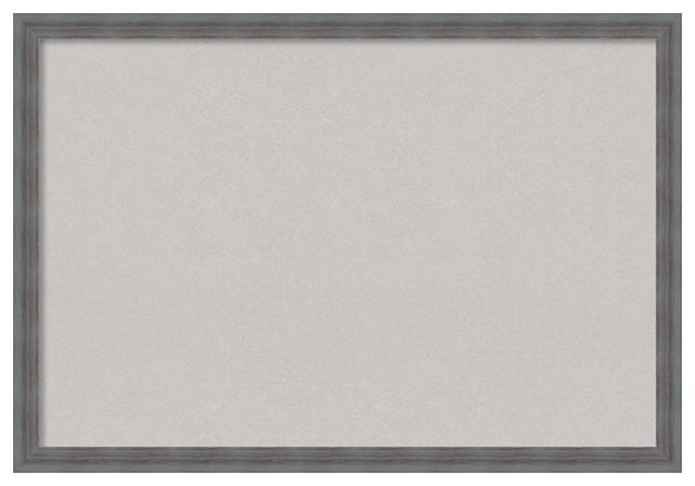 Framed Gray Cork Board, Gray Rustic - Transitional - Bulletin Boards ...