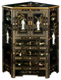 Genial Mother Of Pearl Motif Corner Cabinet   Asian   China Cabinets And Hutches    By China Furniture And Arts