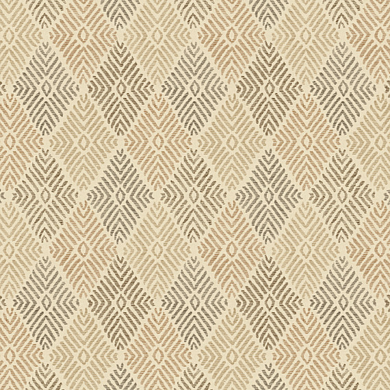 Best Tan Diamond Block Print Fabric - Eclectic - Upholstery Fabric - by  TG94