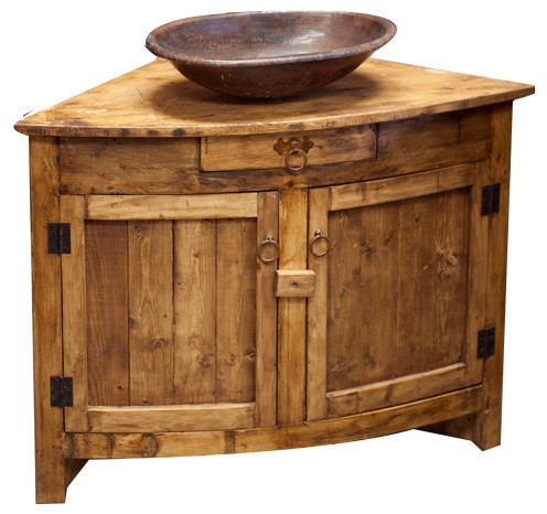 Old Barn Rustic Corner Vanity Rustic Bathroom Vanities And