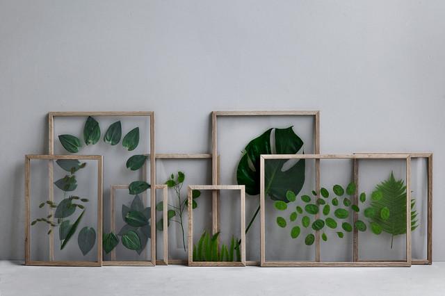 Frame with plants scandinavian