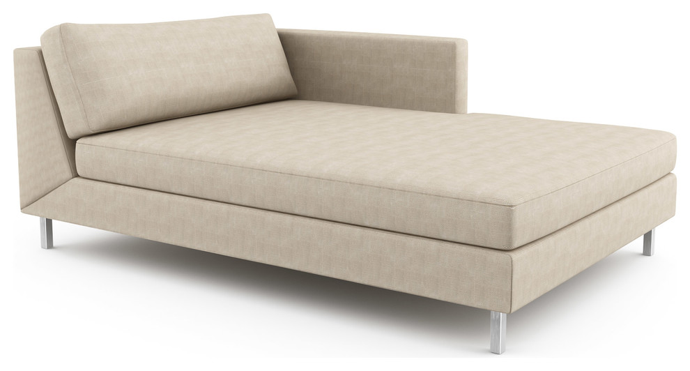 Mota Double Chaise Right Custom Modern Indoor Chaise