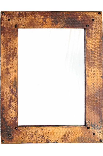 Hammered Copper Vanity Mirror 27 Quot X 21 Quot Rustic