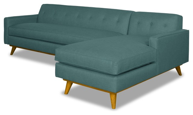 Clinton Ave 2-Piece Sectional Sofa, Seafoam, Chaise on Right
