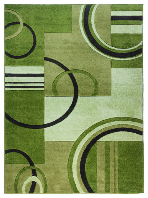 Well Woven Ruby Galaxy Waves Rug, Green, 3&x27;11x5&x27;3.