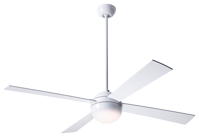 """Modern Fan Ball Led-Light Gloss White 42"""" Ceiling Fan With Remote Control"""